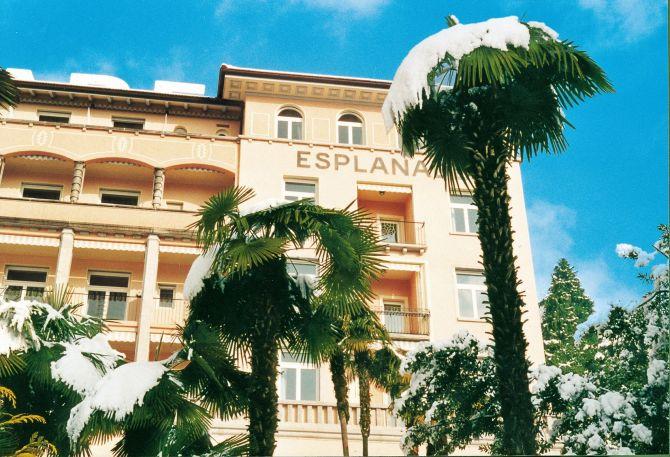 Esplanade Hotel Resort & Spa under the snow