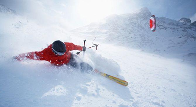 Skifahren & Snowkiten