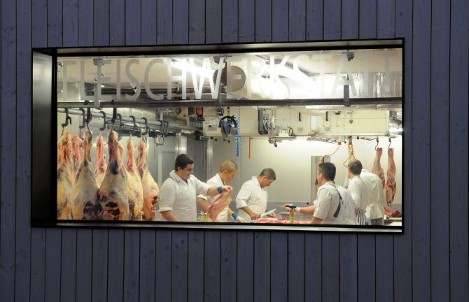 Hauseigene Fleischwerkstatt