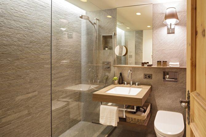 Badezimmer Doppelzimmer Superior Alpenchis