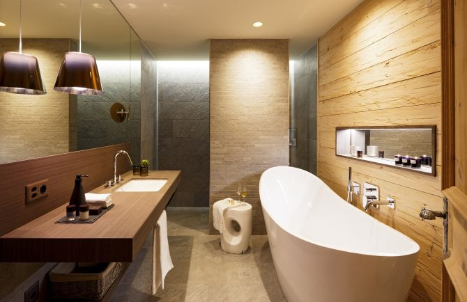 Appartement Superior Alpenchic 80 m2 - Badezimmer