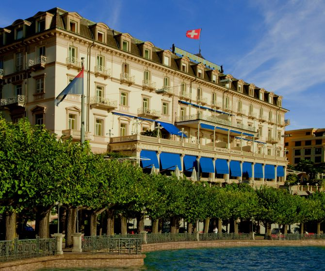 The iconic Belle Epoque façade of the Splendide Royal