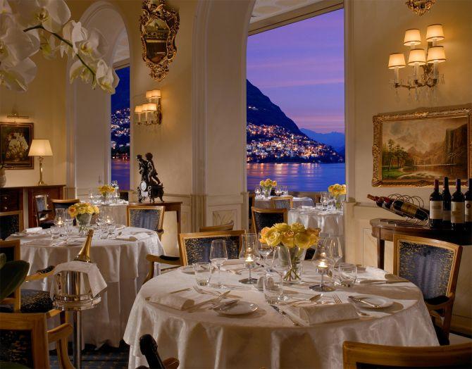 La Veranda Restaurant and its magnificent views over Lake Lugano