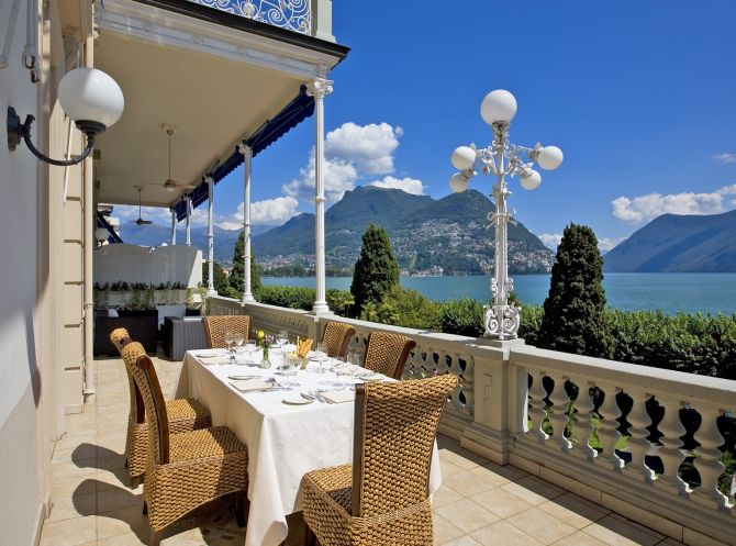 Magnificent views from the terrace of our Presidential Suite