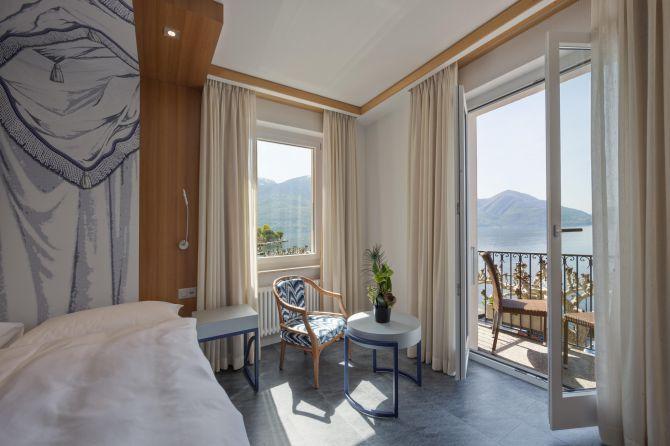 Doppelzimmer mit Seesicht und Balkon
