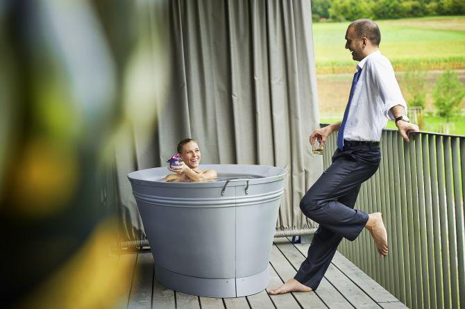 Cocon Suite Süd Aussenbadewanne