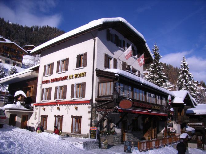 Hôtel de Moiry en hiver