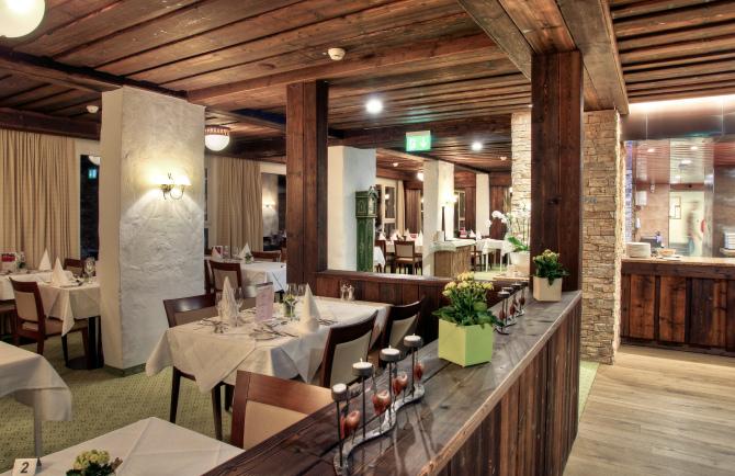 Restaurant at Sunstar Alpine Hotel Arosa, Switzerland