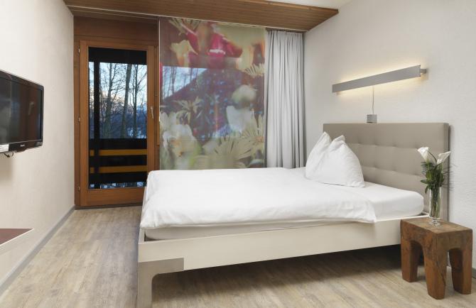 Einzelzimmer mit Bergsicht