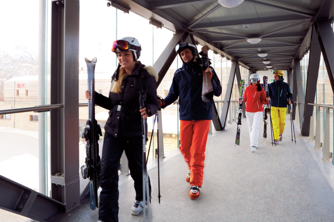 Ski-Brücke