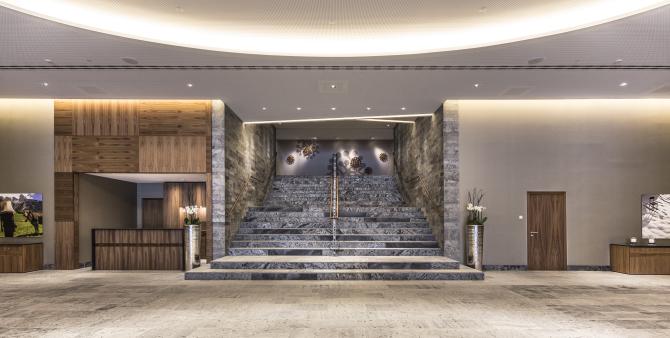 InterContinental Davos- Bankett Foyer Treppenaufgang