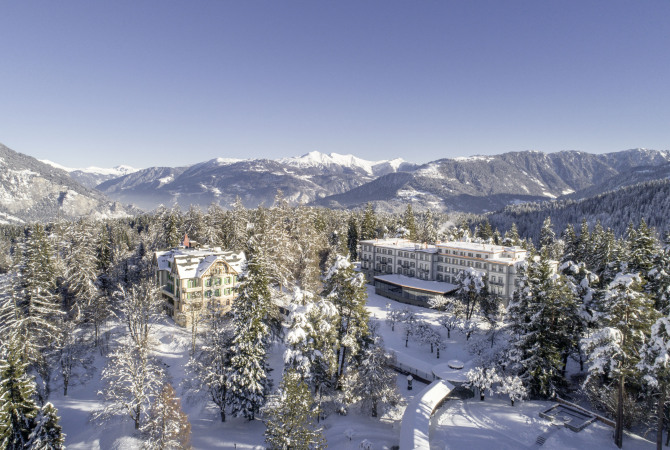 Waldhaus Flims Panorama Winter
