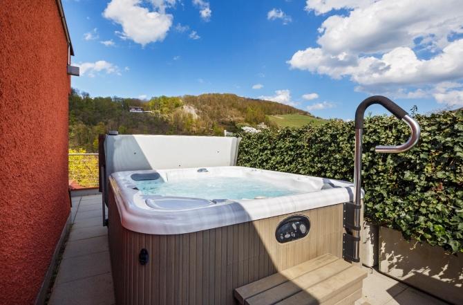 Junior Suite Pool auf der Terrasse