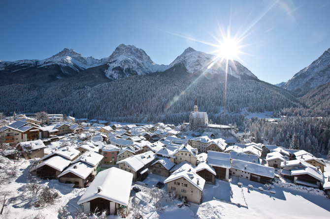 Winter in Scuol