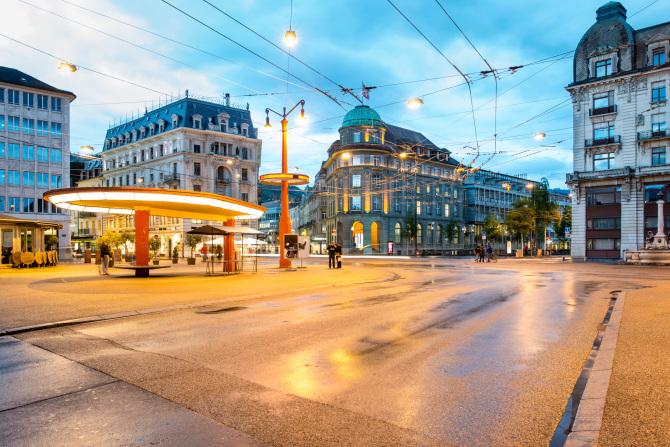Bieler Stadtzentrum Centralplatz