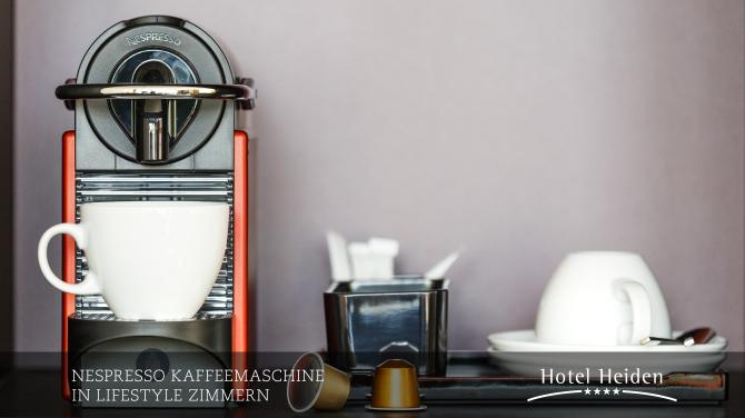 Nespresso Kaffeemaschine in Lifestyle Zimmern
