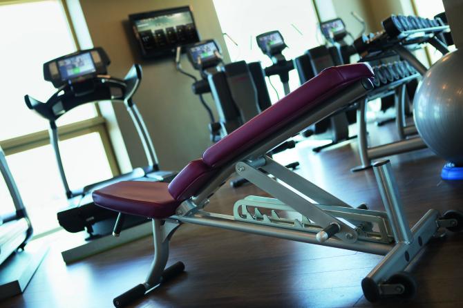 Fitnessbereich mit Aussicht