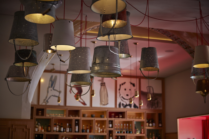 Lichtinstallation by Rolf Sachs