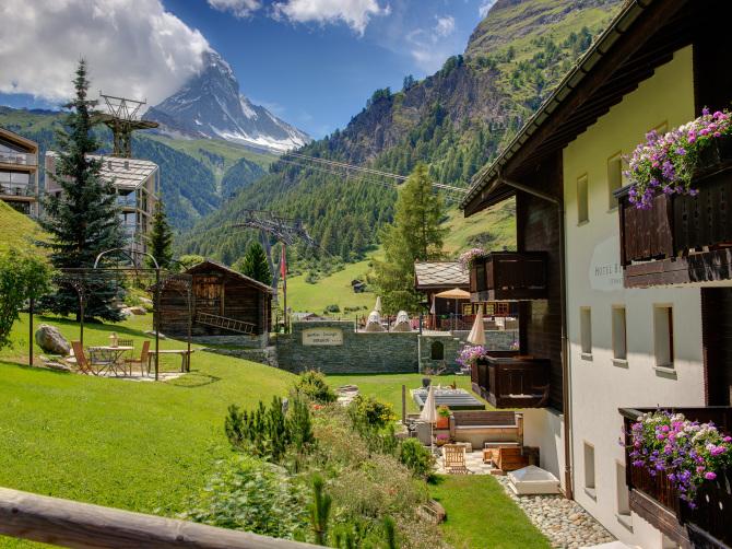 Seiten Ansicht Hotel