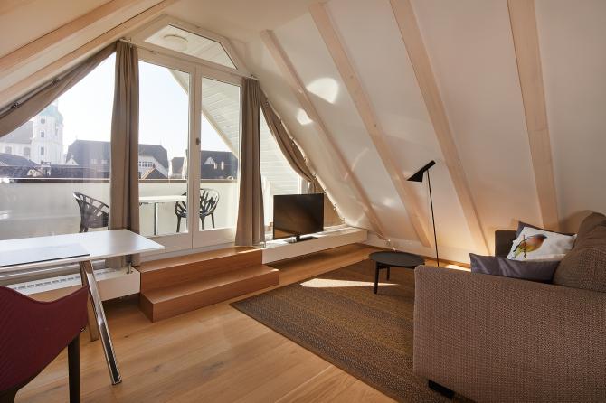 Suite Wohnbereich mit Balkon