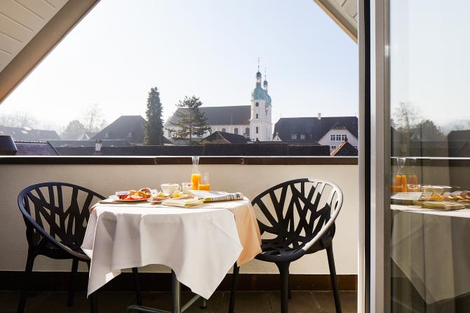 Suite Balkon mit Blick auf den Arlesheimer Dom