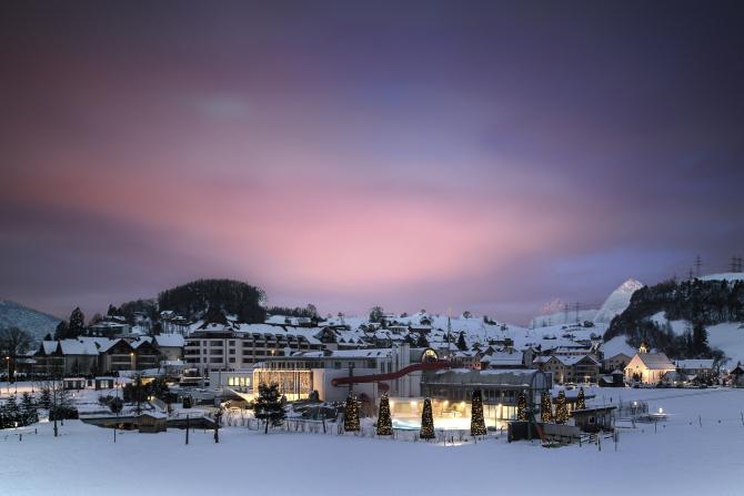 Aussenansicht Winter Swiss Holiday Park