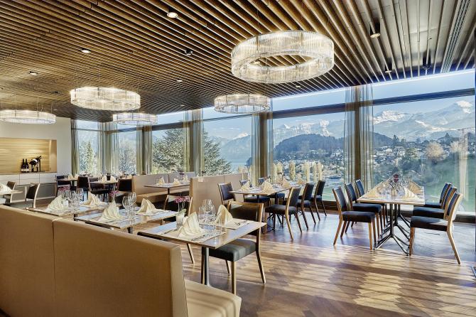 Hotel Eden Spiez - Restaurant ParkSide