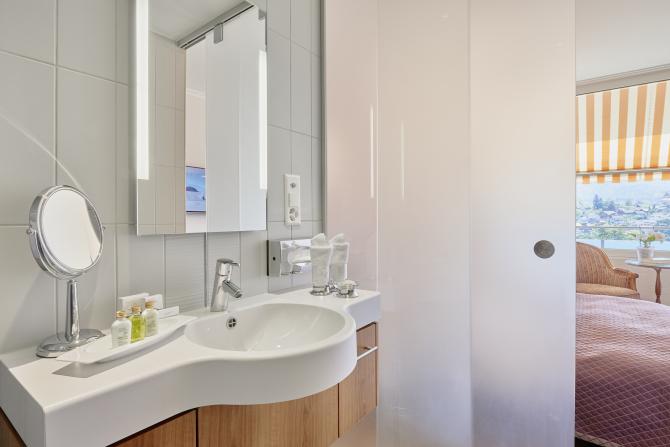Hotel Eden Spiez - Komfortzimmer, Badezimmer