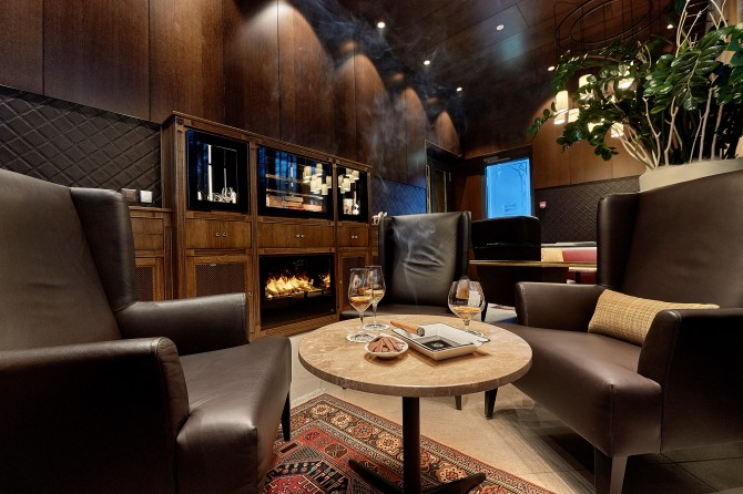 Hotel Eden Spiez - Smokers Lounge