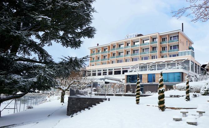 Hotel Eden Spiez - Aussenansicht Winter