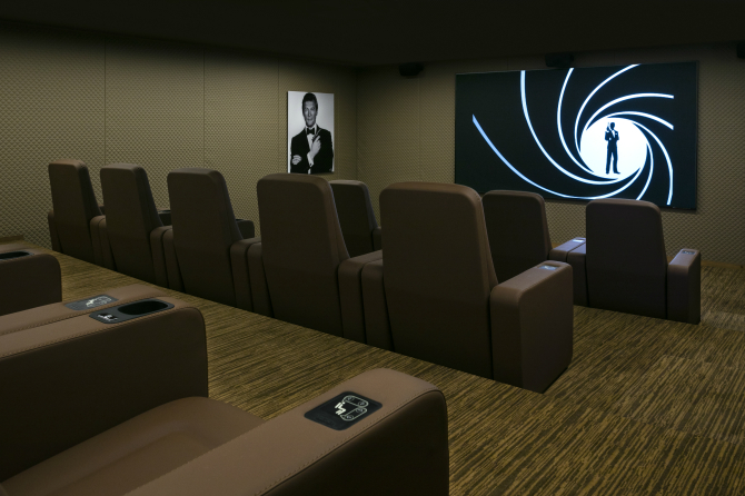 Sir Roger Moore Private Cinema