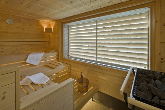 Sauna mit Tageslicht