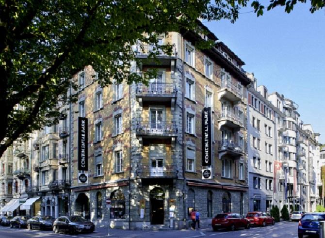 Aussenansicht Hotel Continental Park Luzern