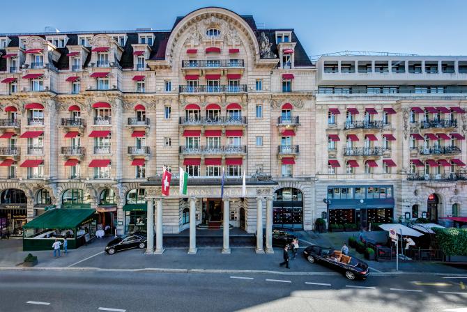 Façade Lausanne Palace