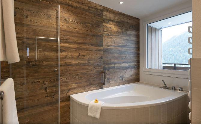 Sunstar Hotel Davos Suite Badezimmer
