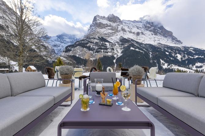 Garten Lounge mit Eigerblick