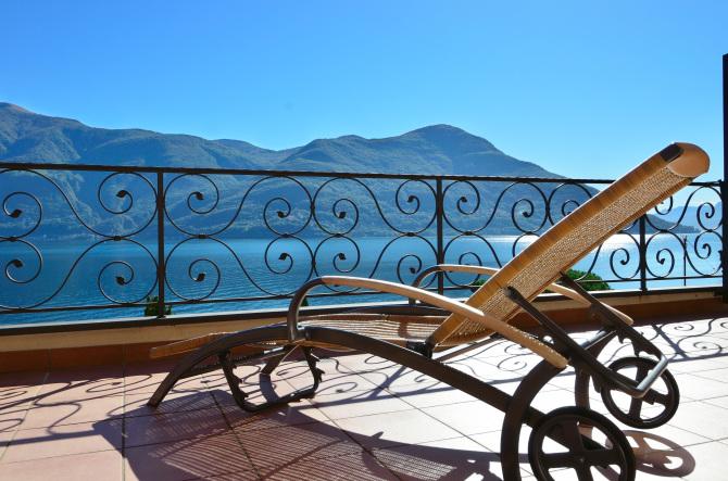 Ausblick, Balkon - Sunstar Hotel Brissago, Tessin