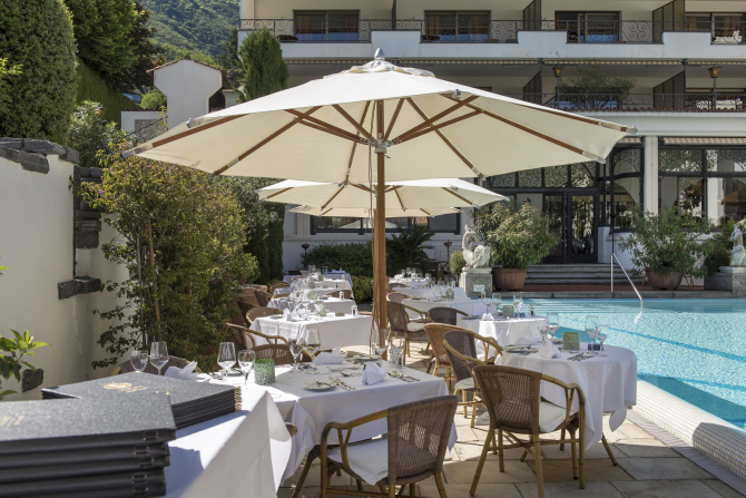Poolrestaurant - Sunstar Hotel Brissago, Tessin