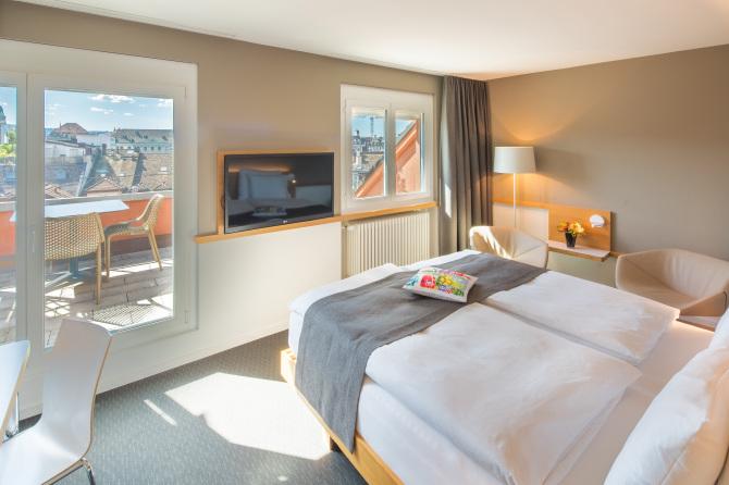 Hotel Zürcherhof Doppelzimmer mit Balkon