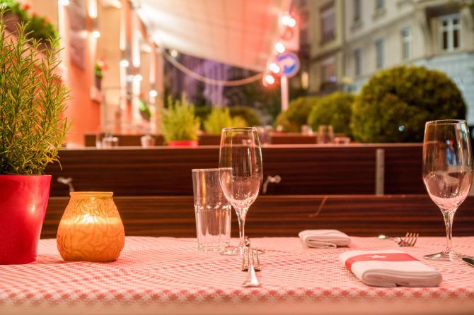 Restaurant Walliser Keller - Terrasse