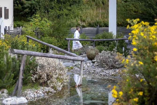 Kempinski St. Moritz Kneipp garden