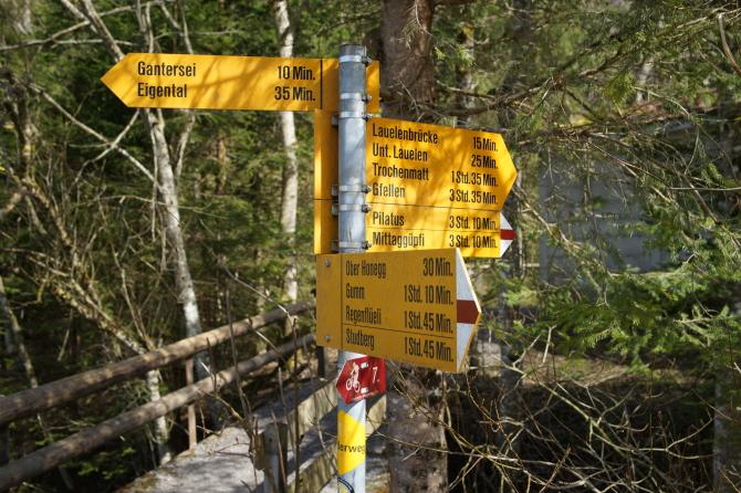 Aktivitäten im Eigenthal - Wandern