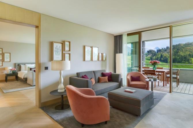 Wohnzimmer - Waldhotel Deluxe Suite