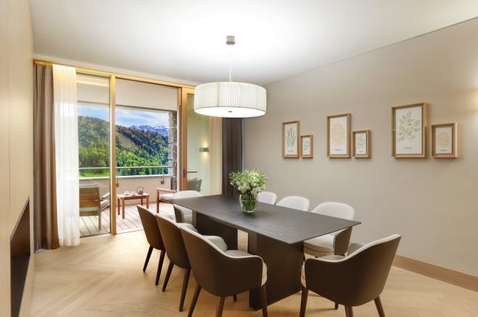 Essbereich - Waldhotel Deluxe Suite