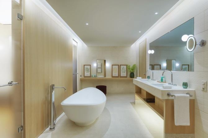 Badezimmer - Waldhotel Deluxe Suite