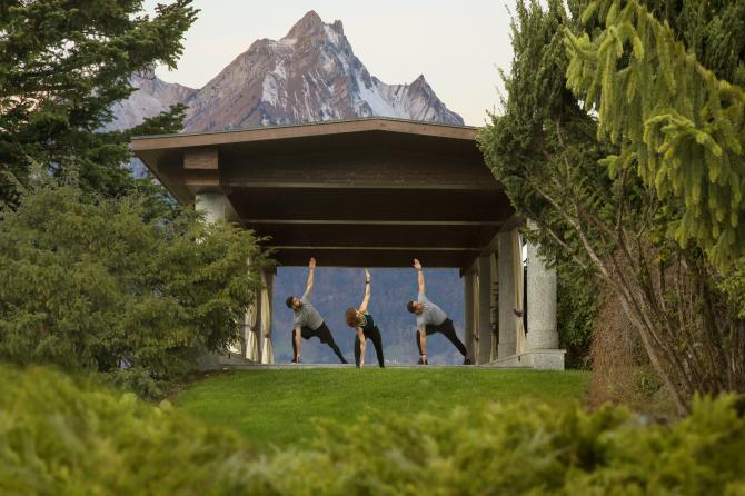 Spa Garten/ Yoga Tempel
