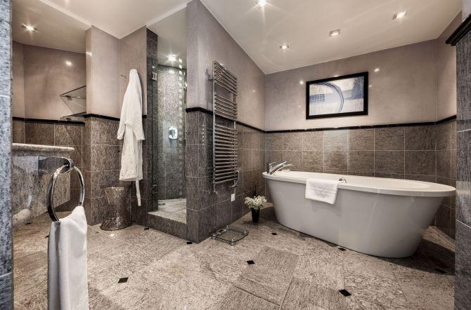 Hotel Eden Roc Ascona Suite Badezimmer
