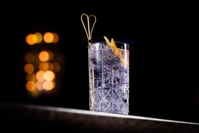 Einstein Bar Purple Gin Tonic