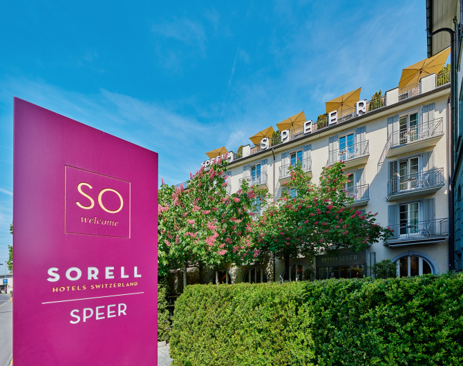Aussenansicht Sorell Hotel Speer