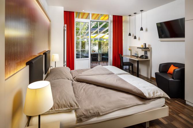 moderne funktionelle und geräumige Zimmer in verschiedenen Grössen